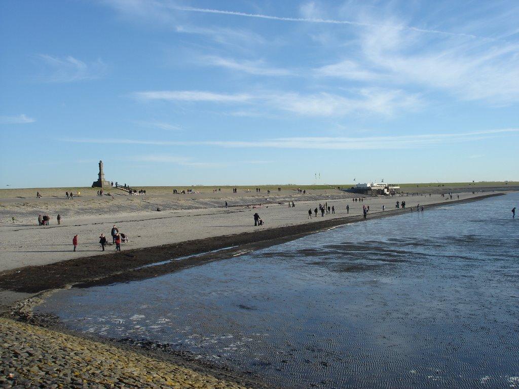 Aandacht Harlinger strand ebt langzaam weg